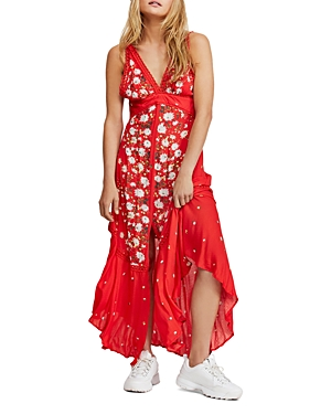 Free People Dresses PARADISE MIXED FLORAL MAXI DRESS