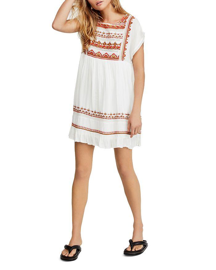 Free People - Sunrise Wanderer Embroidered Babydoll Dress