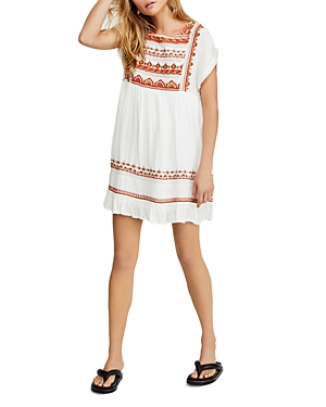 Free People Dresses SUNRISE WANDERER EMBROIDERED BABYDOLL DRESS