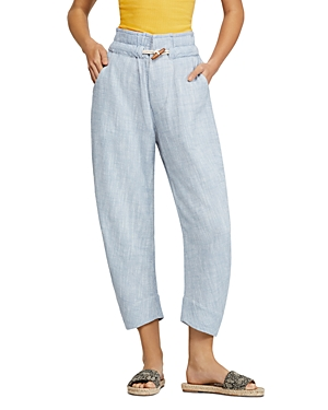 Free People Pants PARADISE TOGGLE STRAIGHT-LEG PANTS