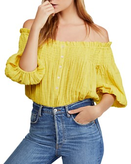 Free People - Dancing Till Dawn Off-the-Shoulder Cropped Top