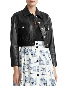 0fd09689848c Women's Leather, Suede, and Shearling Coats - Bloomingdale's