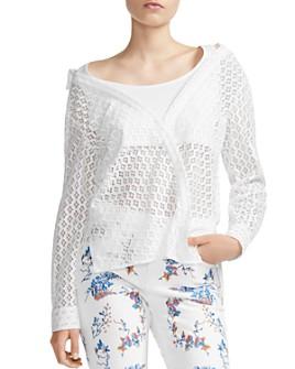 Maje - Lalina Sheer Lace Shirt