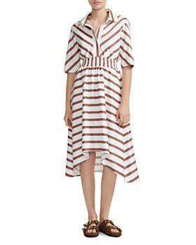 Maje - Striped Shirt Dress