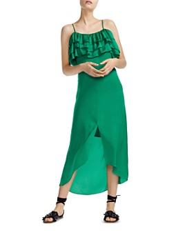 Maje - Rovanta Ruffle Midi Dress