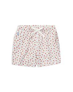 Ralph Lauren - Girls' Floral Stretch Mesh Shorts - Little Kid