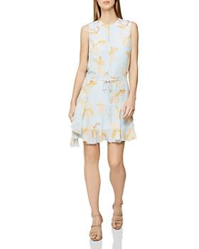 REISS - Sienna Floral-Print Dress