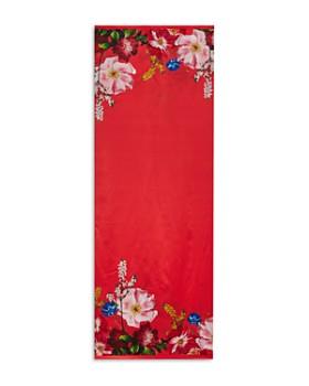 3aecaa877 Ted Baker - Biana Berry Sundae Floral Silk Cape Scarf ...