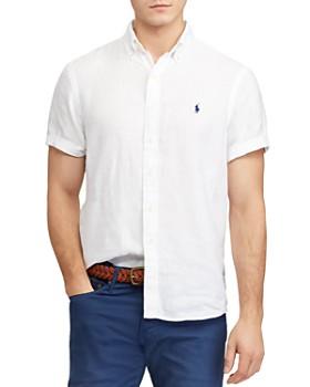 80e79a64 Polo Ralph Lauren - Short-Sleeve Linen Classic Fit Button-Down Shirt ...