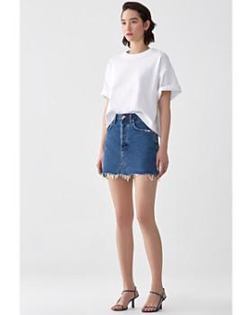 AGOLDE - Quinn High-Rise Denim Mini Skirt in Warrant
