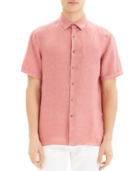 Theory - Irving Summer Linen Short-Sleeve Regular Fit Shirt