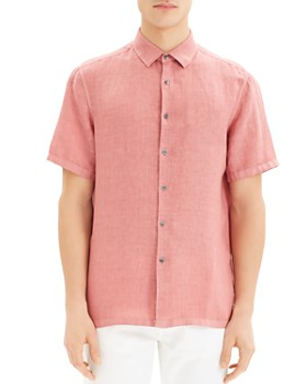 Theory - Irving Summer Linen Short-Sleeve Regular Fit Shirt