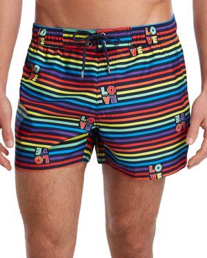 2(X)Ist Essential Ibiza Rainbow-Print Swim Shorts