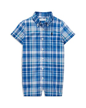 3d2a1bebf Ralph Lauren - Boys' Plaid Cotton Poplin Shortall - Baby ...