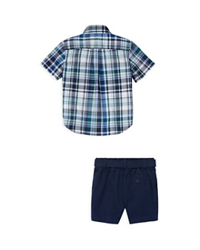Ralph Lauren - Boys' Shirt, Belt & Poplin Shorts Set - Baby