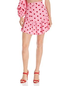 S/W/F - Fresh Polka Dot Ruffle Skirt