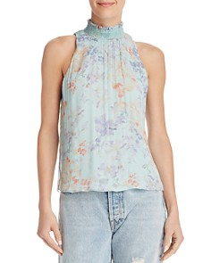 Alice and Olivia - Annmarie Smocked Mock-Neck Top