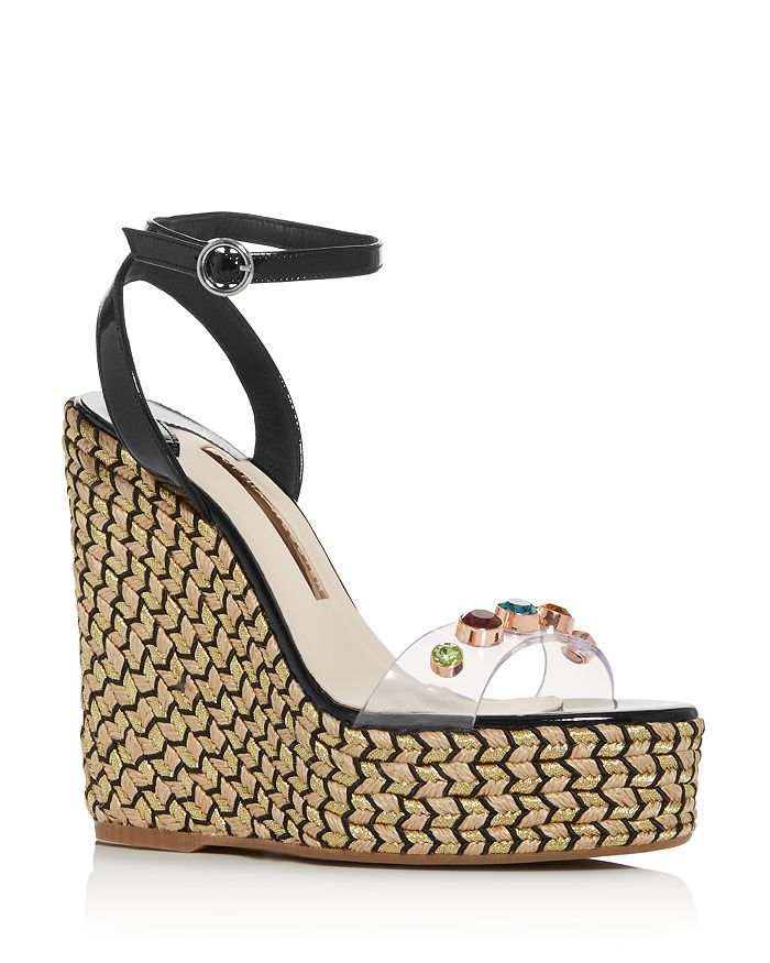 Sophia Webster - Women's Dina 140 Embellished Wedge Platform Espadrille Sandals