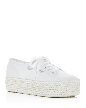 Superga Platforms WOMEN'S COTU LOW-TOP PLATFORM SNEAKERS