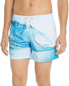 SUNDEK - Wave-Print Swim Shorts