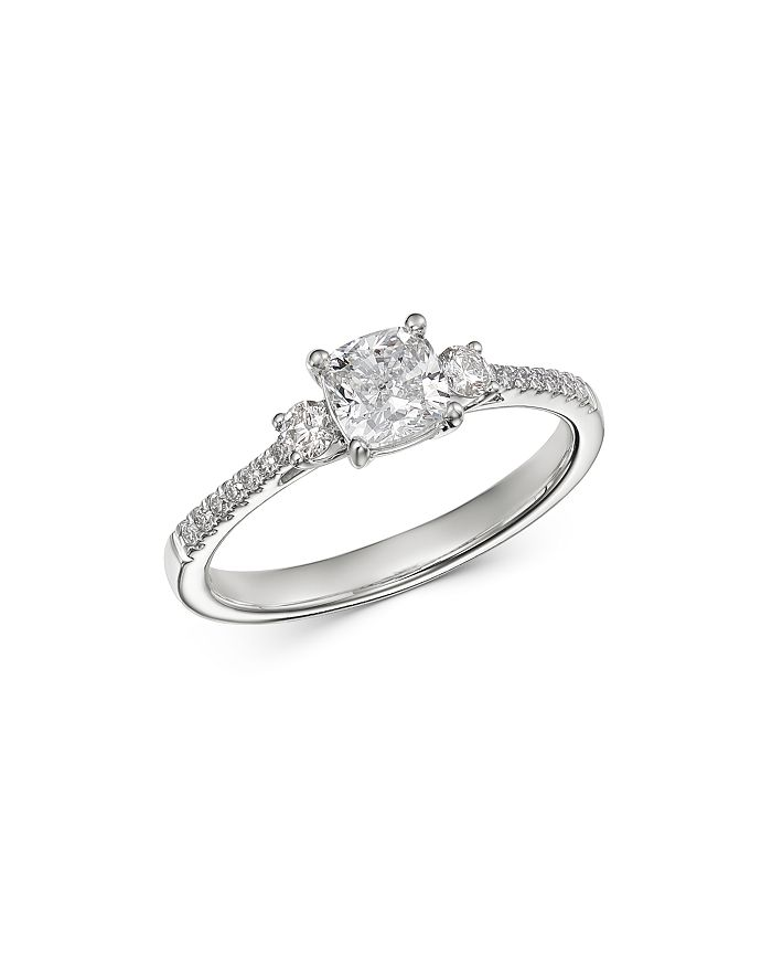 Bloomingdale S Cushion Cut Diamond Engagement Ring In 14k White