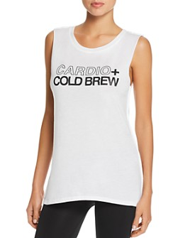 Social Sunday - Cardio + Cold Brew Muscle Tee