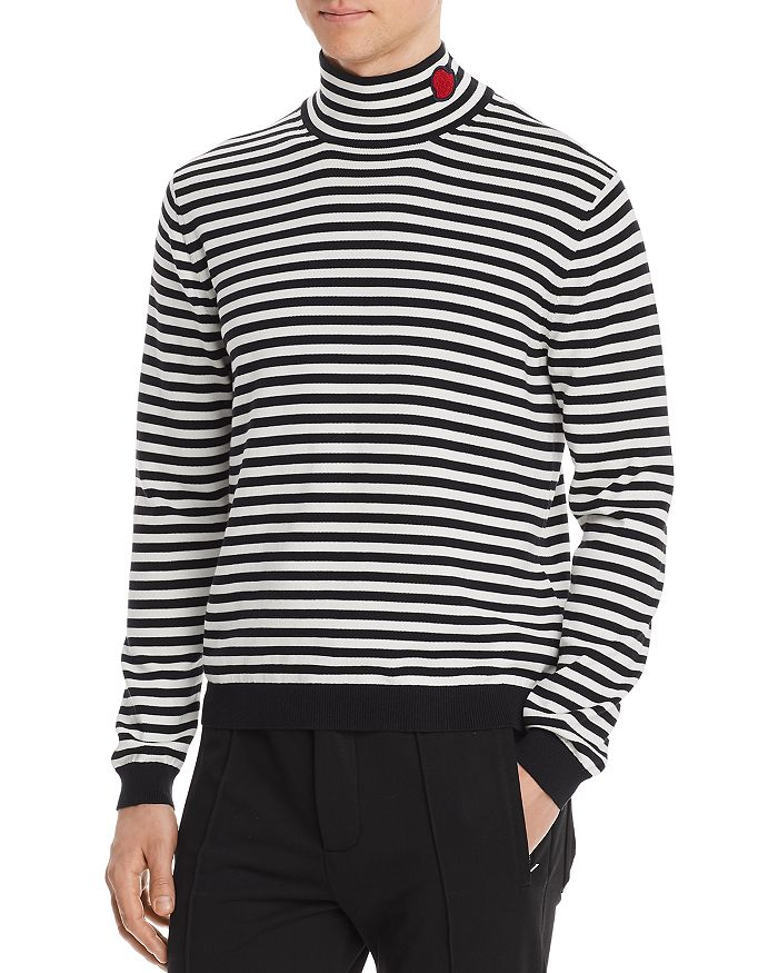 Moncler - Striped Mock Neck Sweater