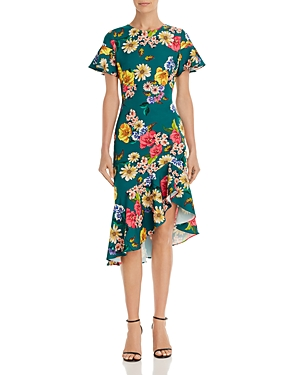 Black Halo Dresses REELLE FLORAL RUFFLE DRESS
