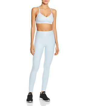 acb394ca95 Alo Yoga - Sunny Strappy Sports Bra & High-Waist Tech Lift Airbrush Leggings