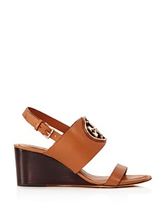 Tory Burch - Women's Metal Miller Wedge Heels