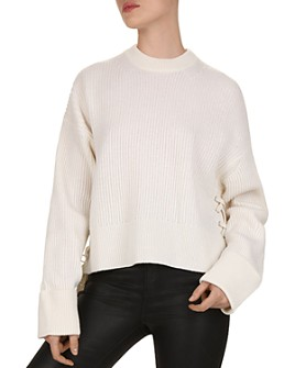 The Kooples - Wool & Cashmere Lace-Up Sweater