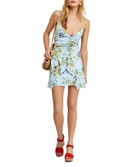 Free People - Happy Heart Ruched Mini Dress