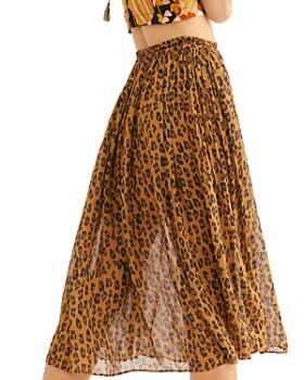 Free People - Lydia Leopard-Print Skirt