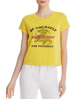PAM & GELA - Be Yourself Cropped Tee