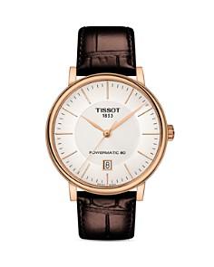 Tissot - Carson Premium Powermatic 80 Brown Leather Strap Watch, 40mm