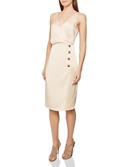 REISS - Peppa Button-Detail Dress