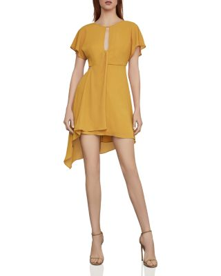 Draped Asymmetric Chiffon Dress by Bcbgmaxazria