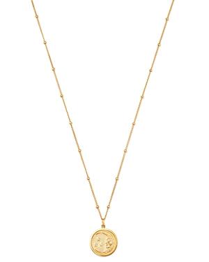 Zoe Lev 14K Yellow Gold Diamond Moon Medallion Necklace, 18