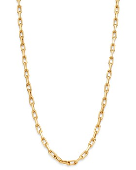 """Zoe Lev - 14K Yellow Gold Open Link Chain Necklace, 16"""""""