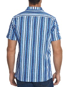 Robert Graham - Hans Short-Sleeve Striped Slim Fit Shirt - 100% Exclusive