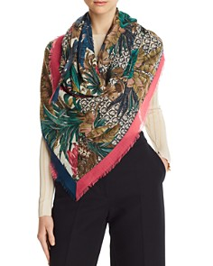 Salvatore Ferragamo - Tropical Gancini Wool Scarf