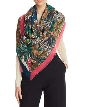 e25f5c0114c54 Salvatore Ferragamo - Tropical Gancini Wool Scarf ...