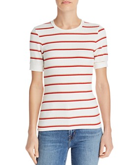 FRAME - '70s Striped Rib-Knit Tee