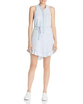 Bella Dahl - Ruffle-Hem Button Shift Dress
