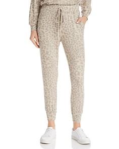 Sundry - Leopard Print Jogger Pants