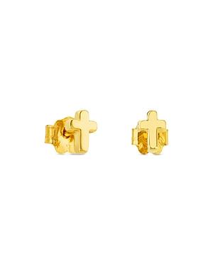 Tous 18K Yellow Gold Cross Stud Earrings
