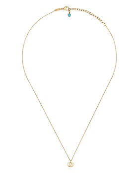 9eb7fbb0b Gucci - 18K Yellow Gold Running G Blue Topaz Necklace, 16.5