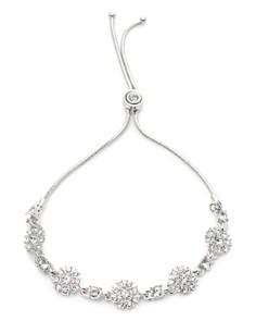 Givenchy - Pavé Flower Station Slider Bracelet