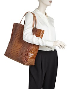 Alice.D - Large Croc-Embossed Tote