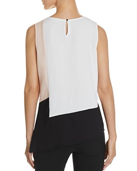Calvin Klein - Asymmetric Color-Block Tank